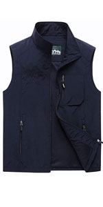 Mens Summer Outdoor Lightweight Travel Work Fishing Hiking Vest Jacket