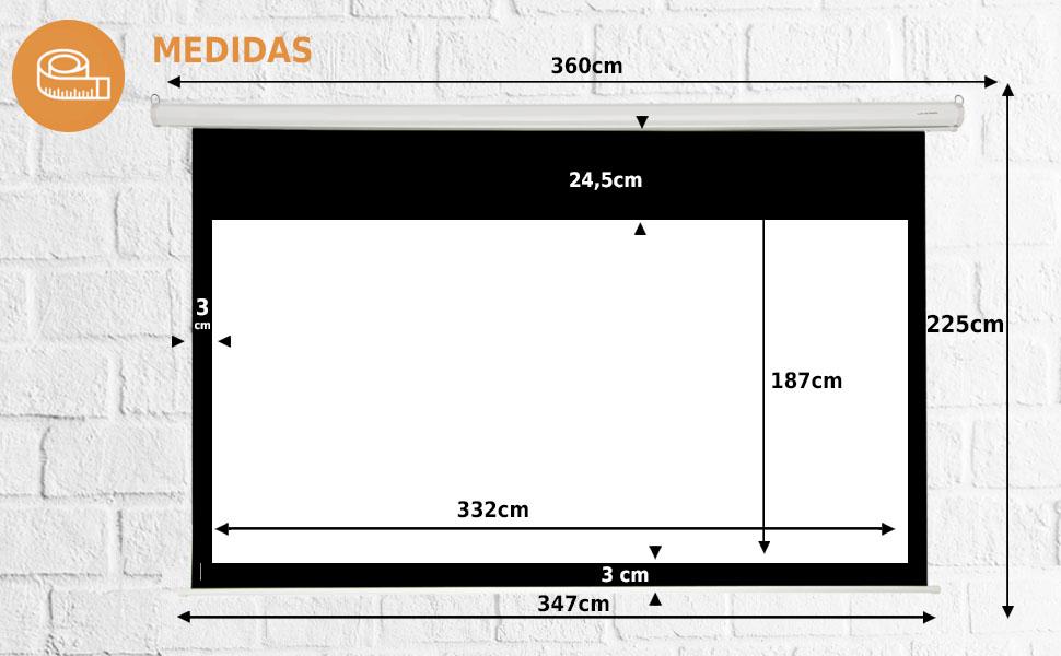 """pantalla de proyeccion electrica de 150"""" 16:9, pantalla para proyector electrica 150 pulgadas, ps5"""