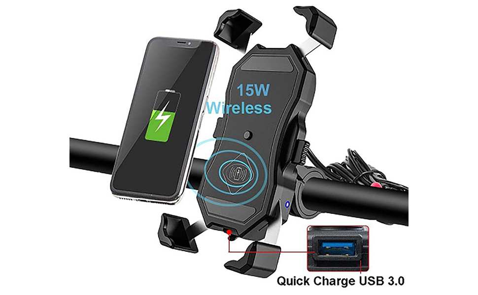 wireless charging and usb charging 2 in 1