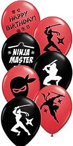gypsy jades ninja party kickin ninja master balloons