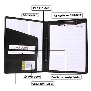 Padfolio Portfolio Folder with Pen