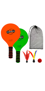 Jazzminton beach version paddle ball toy for outdoor games at the beach or water great fun