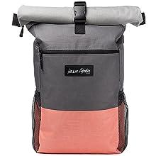 Rucksack Pink Rucksack Grau Rolltop Rucksack Daypack Faltbarer Laptop Rucksack