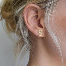 Gold initial earrings