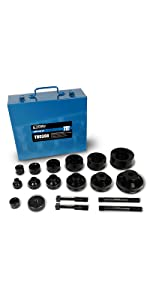 """1-1//2/"""" 1/"""" 2/"""" 1//2/"""" 1.05/"""", 1.69/"""", 3//4/"""" 1-1//4/"""" 1.93/"""", 0.86/"""", TEMCo TH0388 Dimple Die Set Tool Kit 6pcs for Conduit Knockout Sizes: 2.36/"""" 1.33/"""","""