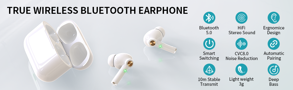 Bluetooth headphones in ear