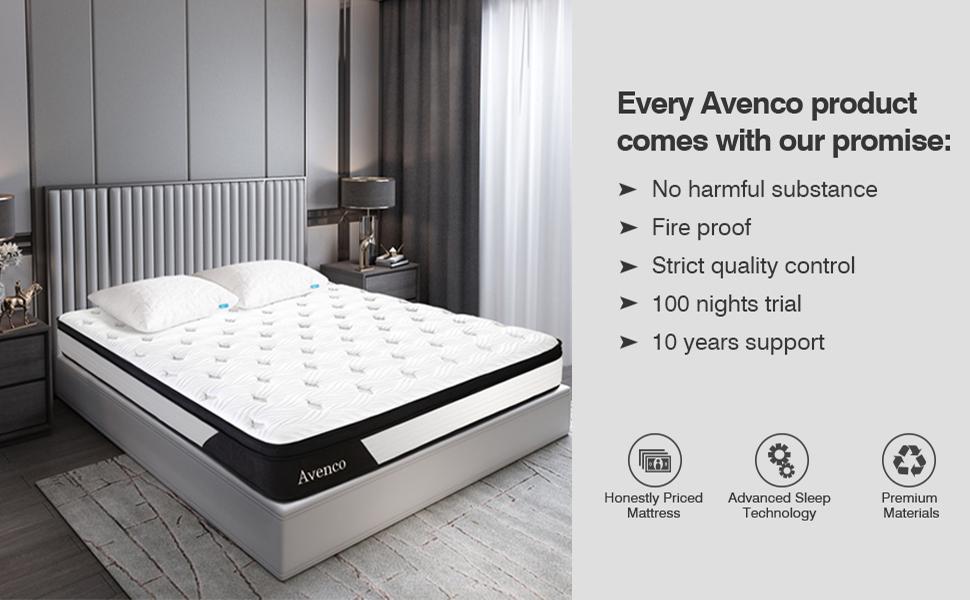 cal king mattress, california king mattress, california king memory foam mattress, hybrid mattress