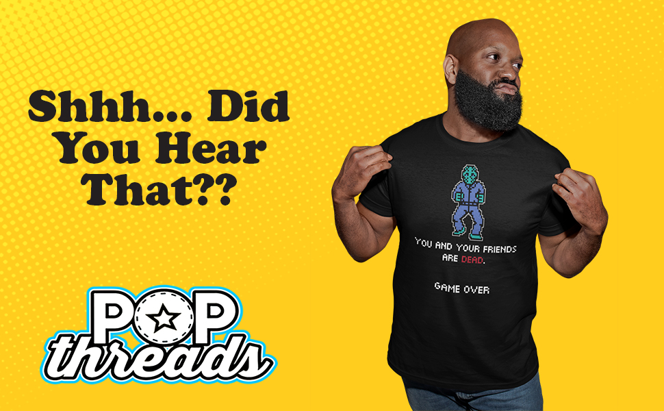 Pop Threads Horror Movie Scary Funny Halloween Jason Retro 80s Graphic Tee T-Shirt for Men