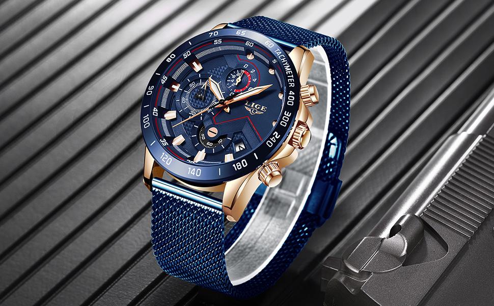 Orologi da uomo LIGE Blu