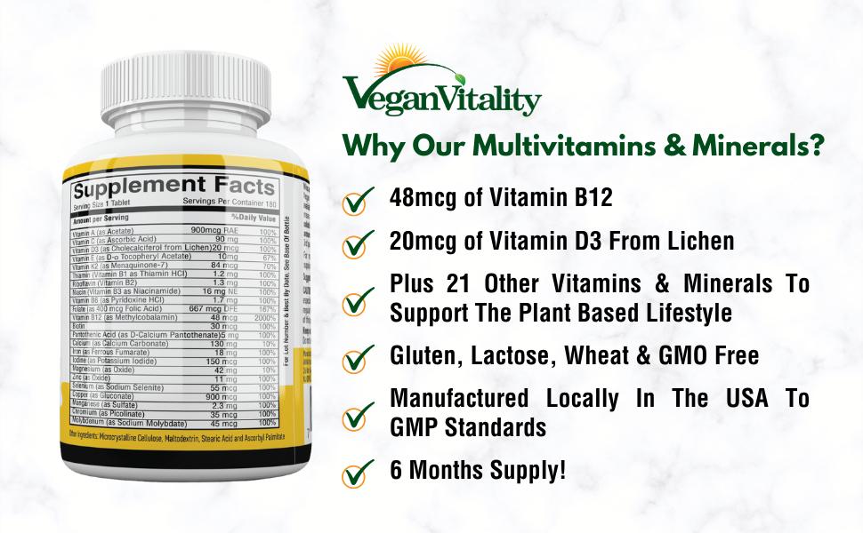 vegan multivitamins and minerals