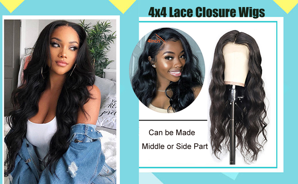 lace closure wigs