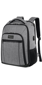 15.6 inch Travel School Big Backpack with Rain Cover