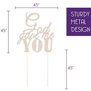 god gave me you cake topper crystal cake toppers