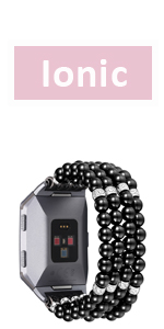 Elasctic fitbit Ionic bands Charms