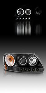 Dual Halo Black F150