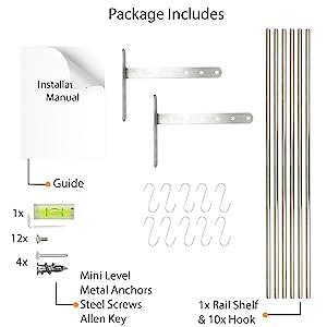 installation manual pan organizer rack for cabinet shelves silverware organizer