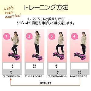 踏み台昇降運動 ダイエット 筋トレ マット 滑り止め トレーニング ふみだいしょうこう 昇降台 有酸素運動 階段 フィットネス 足踏み 昇降 高さ調整 エクササイズ 3段 4段 マット付き