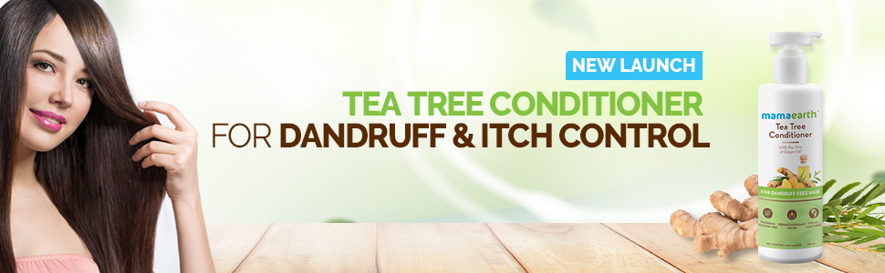 Mamaearth Anti Dandruff Conditioner, With Tea Tree & Ginger Oil, For Dandruff Free Hair