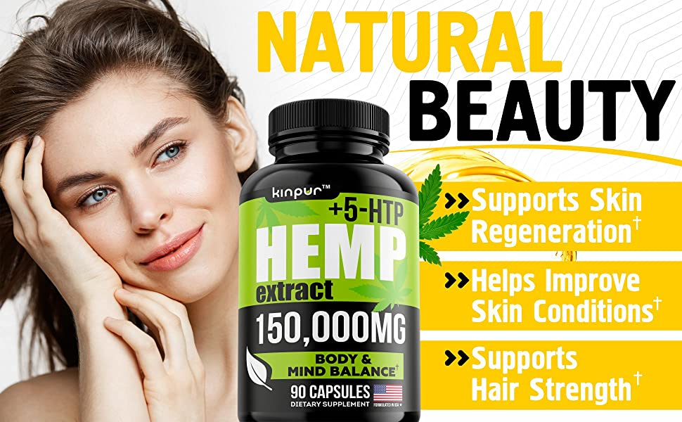 Premium Hemp Oil Capsules for Pain Recovery with Omega 3, 6, & 9 - Stress & Anxiety Support