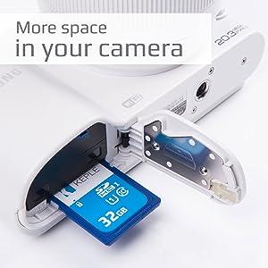 La scheda di memoria SD 32GB