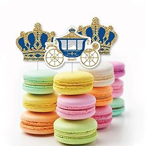 Royal Prince Charming Baby Shower Birthday Bday Party Treat Picks