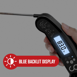 backlit display meat thermometer
