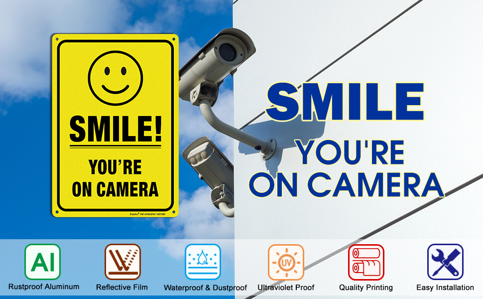camera signs,security camera sign,security signs for yard,home security sign