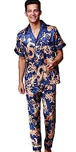 Satin pajamas set for men