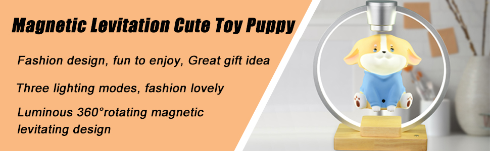 Magnetic Levitation Cute Toy Puppy LED Light