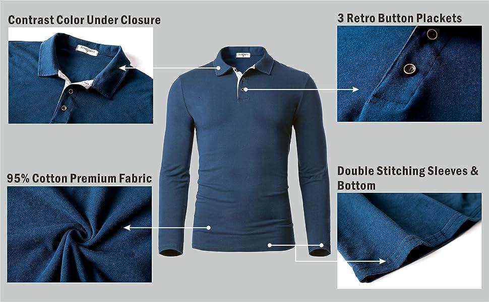 details of cotton polo shirt fine workmanship