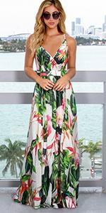 Women Floral Boho Maxi Dress