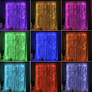 16 color changing curtain lights