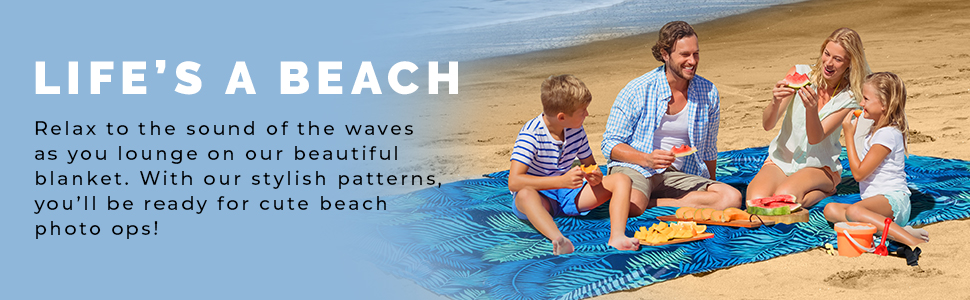 Beach Blanket With our stylish patterns, you'll be ready for cute beach photo ops .