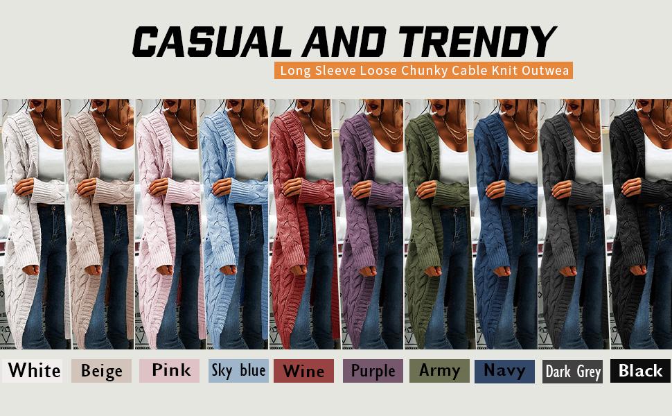 long sleeve cardigans