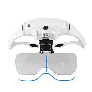 Kkmoon Lupe Stirnband Brille Lupe 5 Objektiv Elektronik
