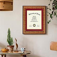 gold diploma frame