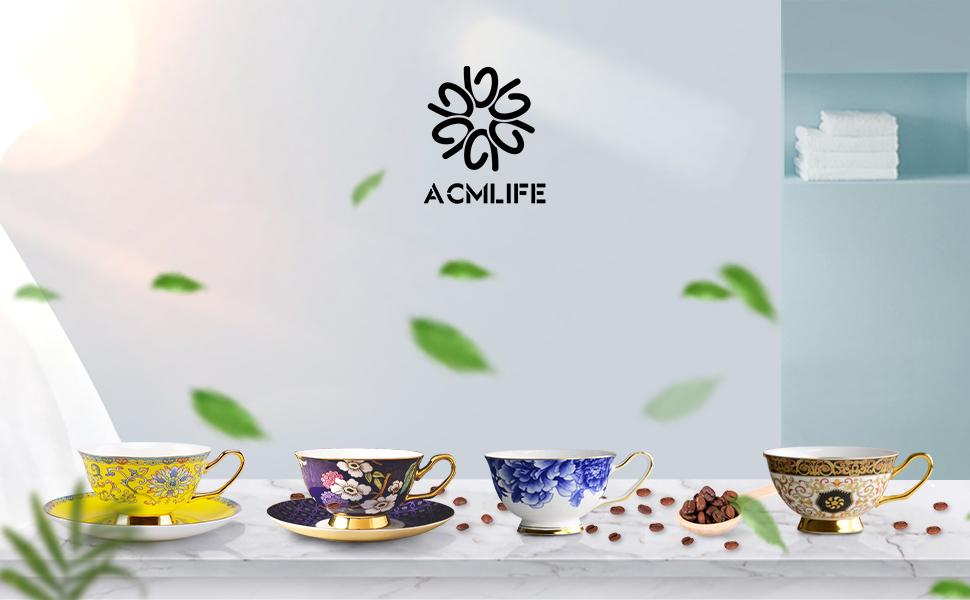 ACMLIFE tea cup and saucer set