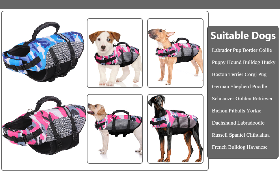 Dog Life Jacket Swimming Vest Ristop Floatation Device small medium large pet lifesaver preserver