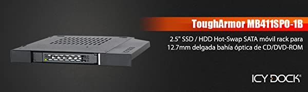 Icy Dock We de Ra 6,3 cm SATAI de III/SAS HDD & SSD Slim ODD 12,7 ...