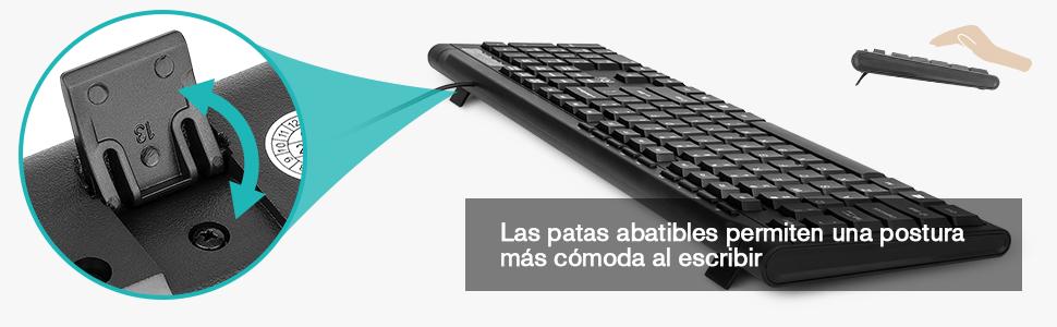 Rii RK907 USB - Teclado con Cable, QWERTY español, Negro
