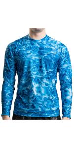 long sleeve rashguard swimshirt swim uv spf sun protection sunblock water camo