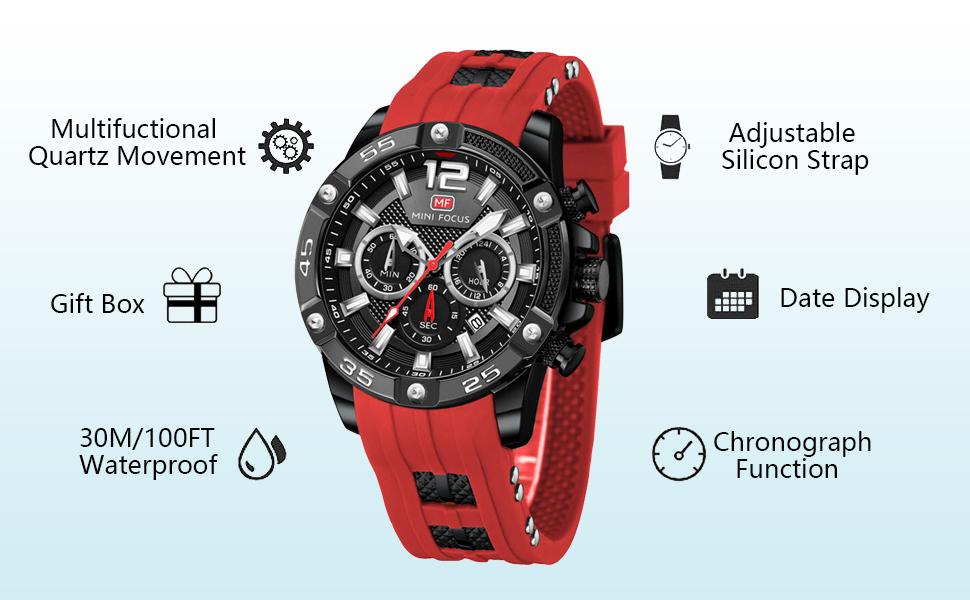 relojes de pulsera relojes para hombre quartz chronograph watches for men