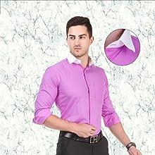 Formal shirt with white cuffs & collar