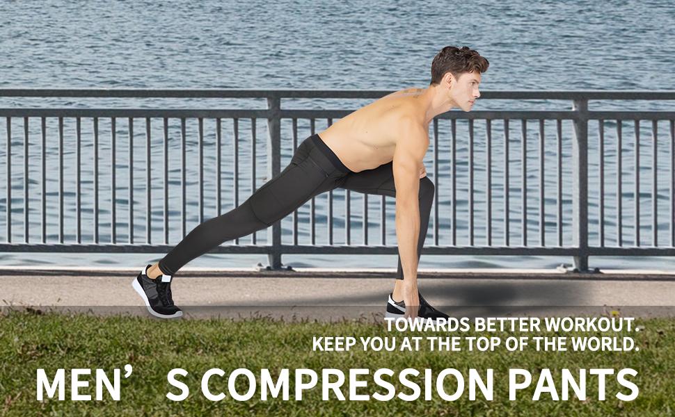 LEICHR Compression Yoga Pants for Men