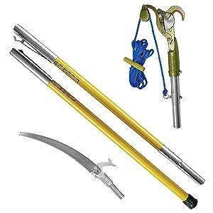 FG-6PKG-1, fiberglass pole, hollow core pole kit, tree trimming kit