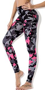 camo pink yoga leggings