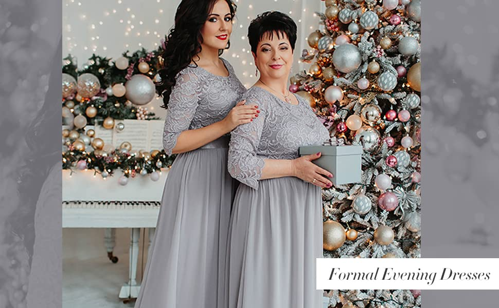 Ever Pretty Mother of the Bride Dress Plus Size Formal Wedding Guest Dress for Women's Maxi Dress