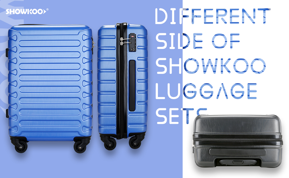 Showkoo luggage sets different sides