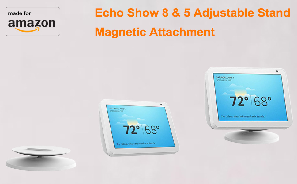 echo alexa show 8 5 adjustable stand mount accessories charcoal  sandstone