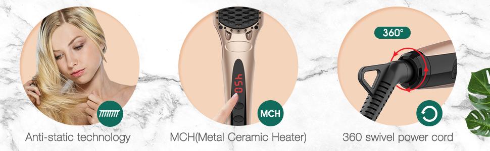 Ionic Hair Straightener Brush